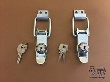 2 Locking Over Centre Lock Catches Trailer Motorhome Horsebox Camper Toggle