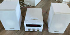 Kenwood Mini-Stereoanlage, weiss, CD-Player, Radio, 2 Boxen, Fernbedienung