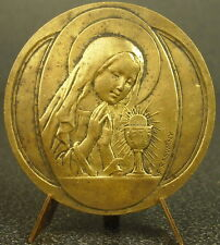 Medaille religieuse la Vierge Marie en prière sc Rasumny Virgin Maria 50mm medal