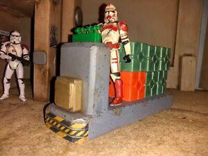 Vintage style custom star wars 3.75 yavin transport cargo sled vehicle 1:18