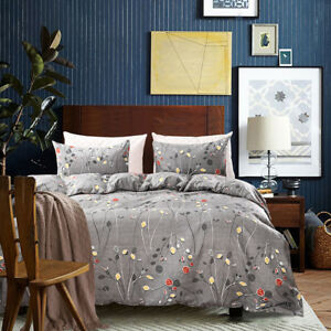 All Size Duvet with Pillow Case Quilts Covers Bedding Set Single Double King New
