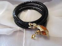 Estate Vintage Whiting & Davis Black Mesh Snake Belt/Necklace