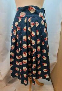 Emily & Finn Ladies Skirt Size 12 (UK) Blue with Ski Design.