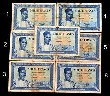 1000 Francs Billet de la Banque Centrale du MALI, Pick N°4, du 22/09/1960. RARE