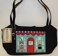 Forever Fossil Beauty Parlor Shop Black Purse Handbag NWT
