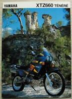 YAMAHA XTZ660 TENERE MOTORCYCLE Sales Brochure c1994 #3MC-0107024-94E