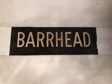 "Glasgow Vintage Linen Bus Destination Blind  25""- Barrhead"