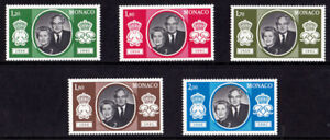 Monaco 1981 Royalty, Silver Wedding Celebration, MNH / UNM