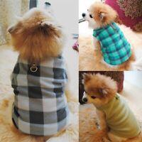 Small Pet Dog Fleece Harness Vest Puppy Warm Sweater Coat Shirt Jacket Apparel