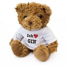 NEW - ICH LIEBE GIN - Teddy Bear Cute Soft Cuddly - Gift Present Birthday