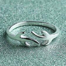 Ladies Ring Deer Antler Finger Ring Silver Jewelry Christmas Gift
