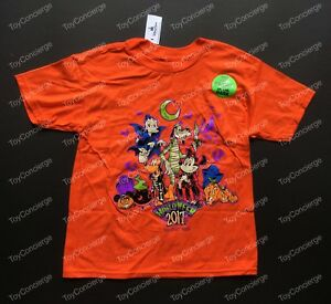 DISNEY Parks HALLOWEEN 2017 TEE for Kids MICKEY & FRIENDS T Shirt PICK Size NWT