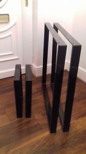2 x table bench legs designer metal steel industrial table legs bench legs retro