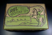 1950s REL WESTERN PLAYSET. COMPLETE. REALLY EXCELLENT.