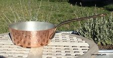 """Textured Copper 9-3/4"""" Windsor Pan w/ tin lining, 2.3 mm, Made in France"""