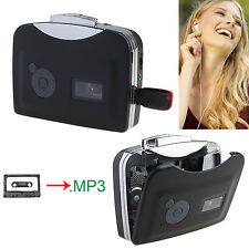 Tape to USB Flash Disk Cassette to MP3 Converter Audio Capture Walkman Player US
