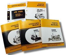 SERVICE MANUAL SET FOR JOHN DEERE 450 CRAWLER DOZER TRACTOR OPERATORS PARTS