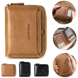 Fashion Men's Leather Wallet Pocket Bifold Purse Clutch ID Credit Card Billfold