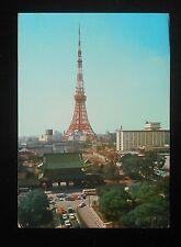 1972 Tokyo Tower Air Mail Tokyo Japan Postcard
