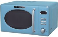 Mikrowelle RETRO Schneider MW720 LB blau 700Watt 20l nostalgie blue hellblau