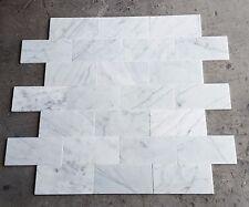 Statuario Venatino Polished Marble 4 x 8 -  100 Pcs - Italian Material