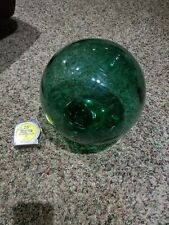 Antique Japanese Green Glass Large Fishing Float
