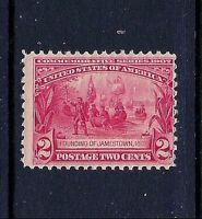 #329 MINT-VLH 1907 Carmine 2c JAMESTOWN Expo Issue