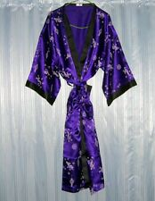 Thai Silk Kimono / Robe / Dressing Gown / Purple