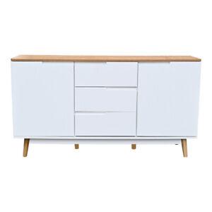 Sideboard Schubladen Kommode JAMES Skandinavisch Wohnzimmer TV Möbel 140 cm