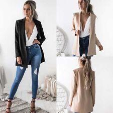 Fashion Women Lady Suit Coat Cardigan Business Blazer Long Sleeve Jacket Outwear