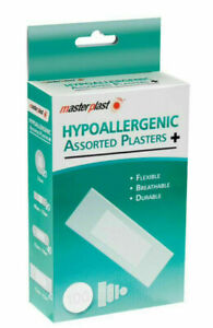 Hypoallergenic Plasters 100 Assorted Sizes For First Aid Master plast breathable
