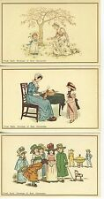 Group of 6 Kate Greenaway early drawings reproduction set pc (Z5291)