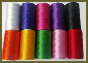10 Colors of 100% Silk Thread spools basic demanding best quality of threads UK