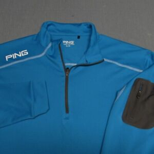 PING STRETCH POLY LONG SLEEVE GOLF SHIRT--XL--FANTASTIC COLOR!!!--TOP QUALITY