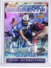 2000 Topps Finest Moments Bruce Matthews auto autograph #FM22 *35360