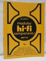 Sams Modular Hi-Fi Components Service Data MHF-44 Fisher Hitachi Sony Panasonic