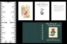 1:12 Scale Miniature Book Beatrix Potter The Tale Of Tom Kitten