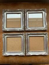 Beautiful 4 Silver Gilt Square Photo Picture Wall Frame Rococo Baroque Style