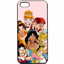 Cartoon Disney PRINCESS FUNNY Face Cute Girls Soft Cover Case For iPhone 5 5S SE