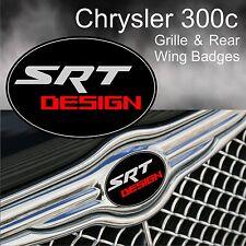 Chrysler 300c SRT Design Logo Grille & Rear Wing Badge Emblems