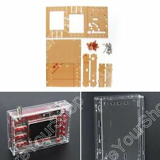 "Claro Acrylic Case Shell Housing Para DSO138 2.4"" TFT Digital Osciloscopio Kit"