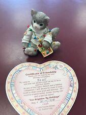 "1996 Enesco Calico Kittens figurine ""You Brighten My Holidays"" #178365 W/Cert"