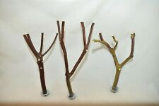 Manzanita Bird Perches Set of 3 w/ hardware Multibranch * Peely Bark