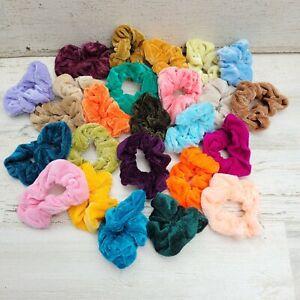 25pcs Assorted Elegant Velvet Hair Ties Scrunchies Scrunchy Ponytail Holder Lots