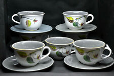 Denby Pottery Spring Pattern Tea Coffee 7 Cups & 6 Saucers Albert Colledge
