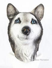 Siberian Husky Mask Dog Latex Animal Fancy Dress Canine Halloween Malamute Wolf
