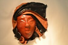 Real Leather Face Sculpture Wall Decor Unique Grand Turk