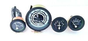 Ford Tractor 600,700,800,900,1800,2000,4000 Series Tacho + Gauge Kit-Black Bezel