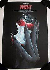 FRIGHT NIGHT LE Screen Print Poster Matt Ryan Tobin Mondo artist x/160