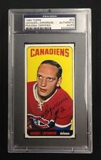 JACQUES LAPERRIERE SIGNED TOPPS 1964 CANADIENS HOCKEY CARD #53 PSA/DNA
